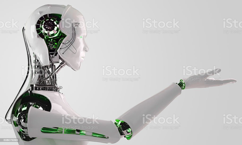 robot android men stock photo