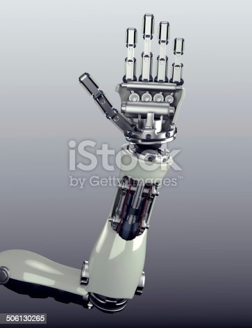 istock robot arm counting number 5 hand gesture 506130265
