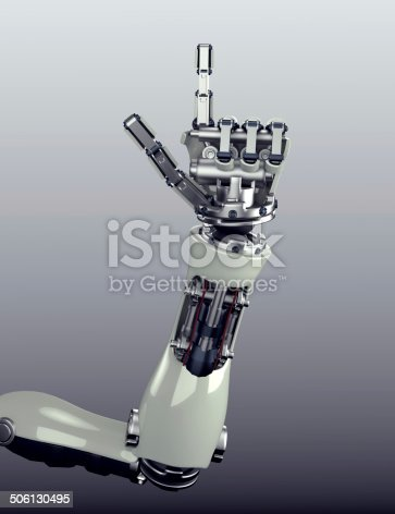 istock robot arm counting number 5 hand gesture 506130495