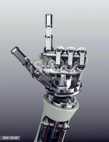istock robot arm counting number 5 hand gesture 506130497