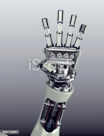 istock robot arm counting number 5 hand gesture 506130857