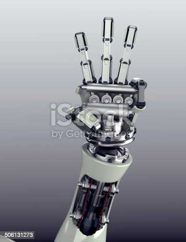 istock robot arm counting number 5 hand gesture 506131273