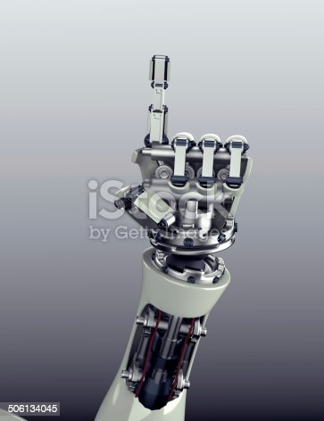 istock robot arm counting number 5 hand gesture 506134045