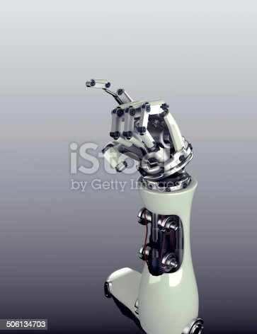 istock robot arm counting number 5 hand gesture 506134703