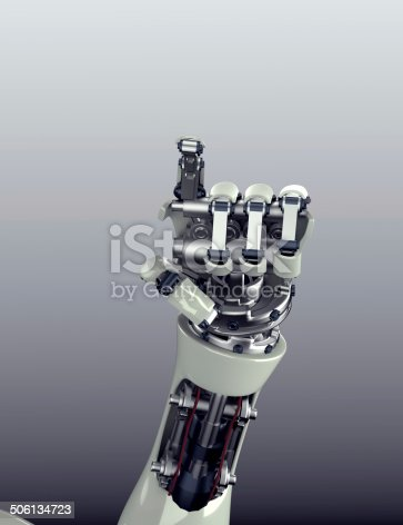 istock robot arm counting number 5 hand gesture 506134723