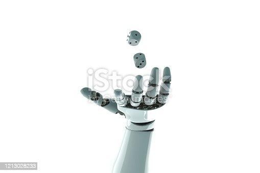 istock robot arm to dice stock photo 1213028233