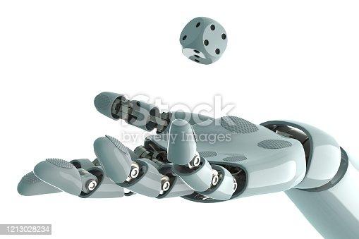 istock robot arm to dice stock photo 1213028234