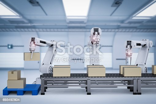 istock robot arms working with cardboard boxes 693492804