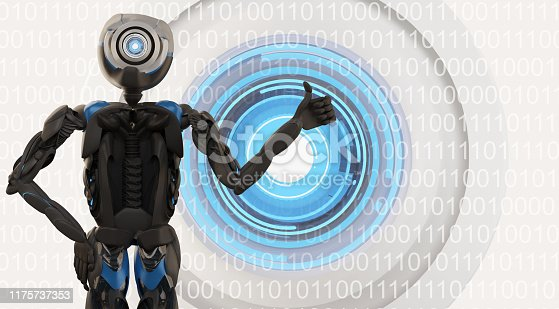 istock robot artificial intelligence data visualization machine learning or data scan 3d-illustration 1175737353