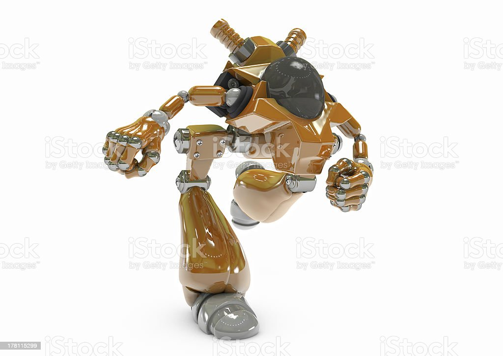 Robot artificial intelligence virus protection royalty-free stock photo