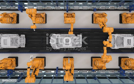 849023956 istock photo robot assembly line in car factory 846603020