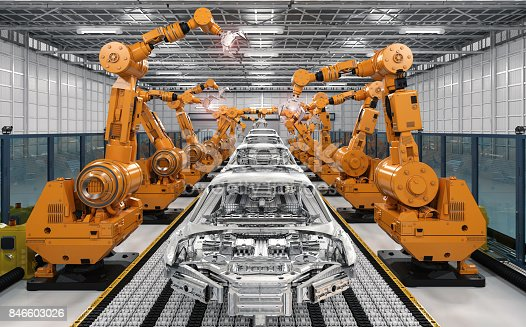 849023956 istock photo robot assembly line in car factory 846603026