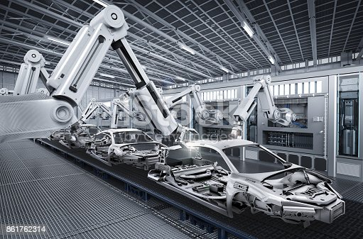 849023956 istock photo robot assembly line in car factory 861762314