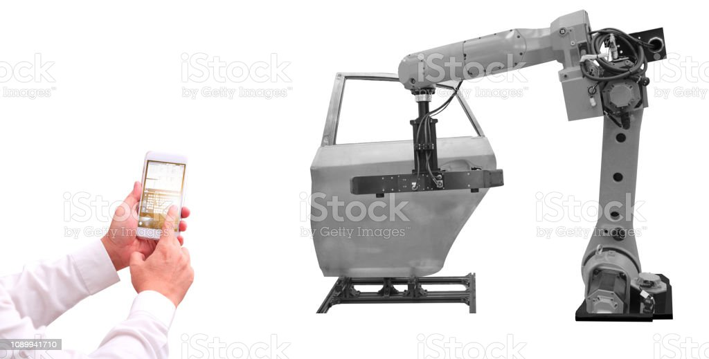 Robot   automotive industry stock photo