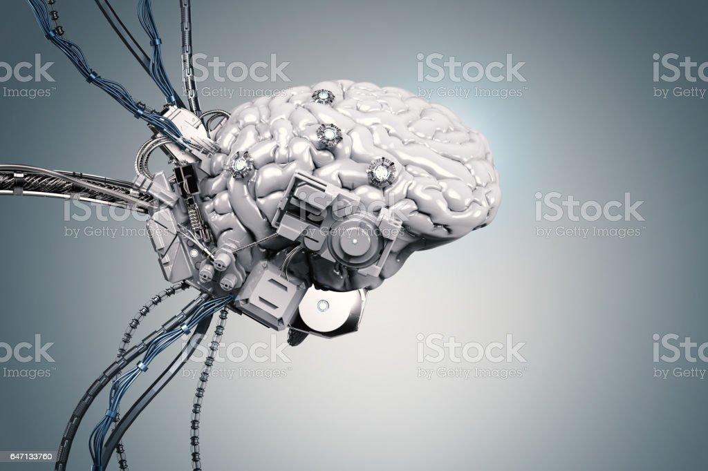 robot brain royalty-free stock photo