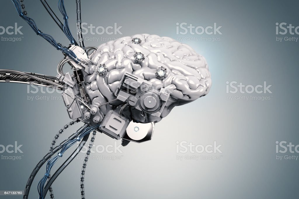 robot brain stock photo