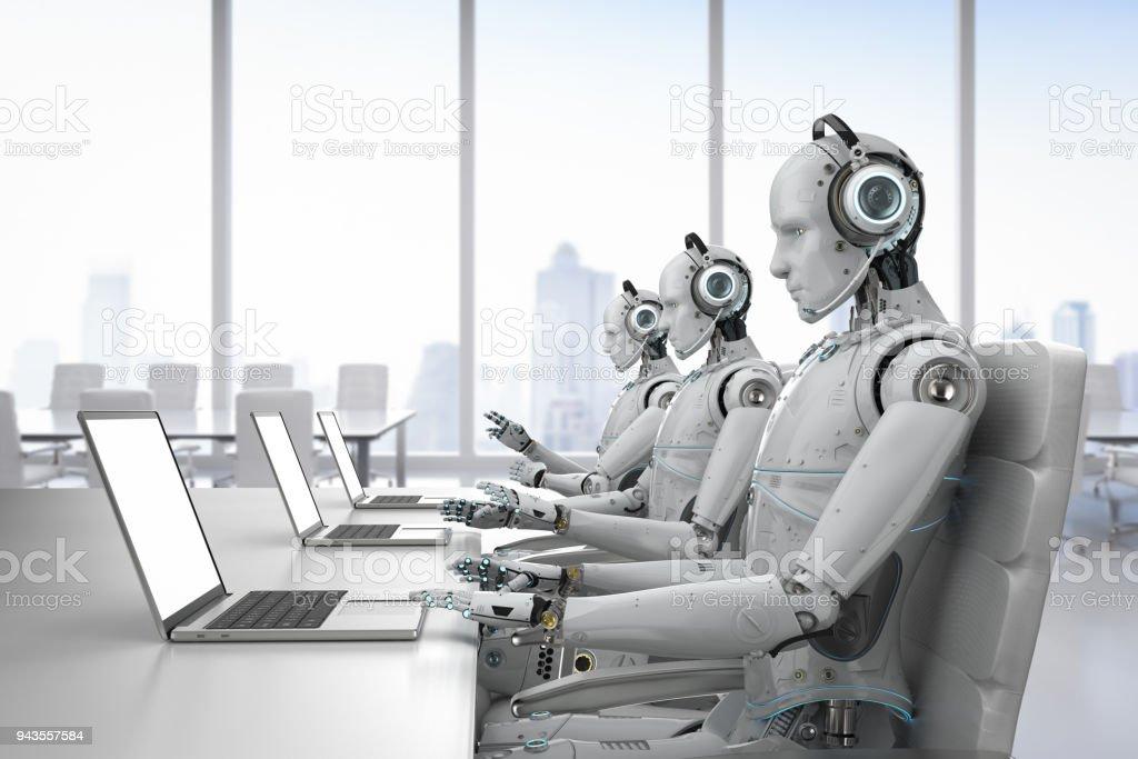 robot call center stock photo