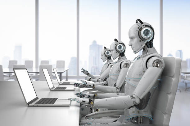 robot call center stock photo