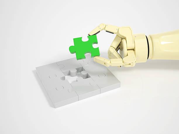 Roboter rundet puzzle Spiel – Foto