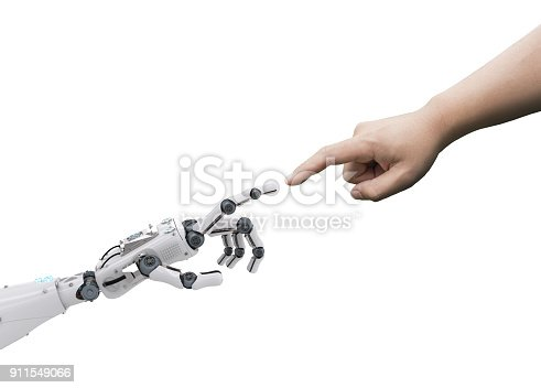 istock robot connect to human 911549066