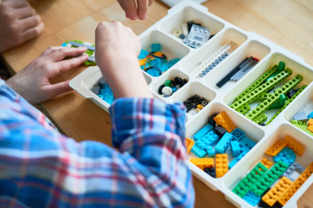 Robot construction kit stock photo