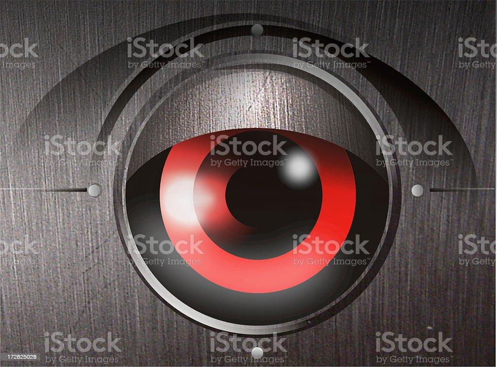 robot eye royalty-free stock photo