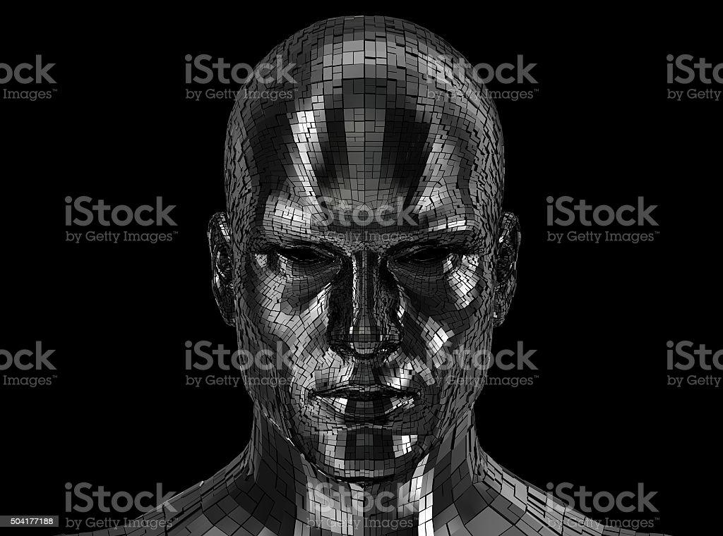 Roboter Gesicht vorne in die Kamera – Foto