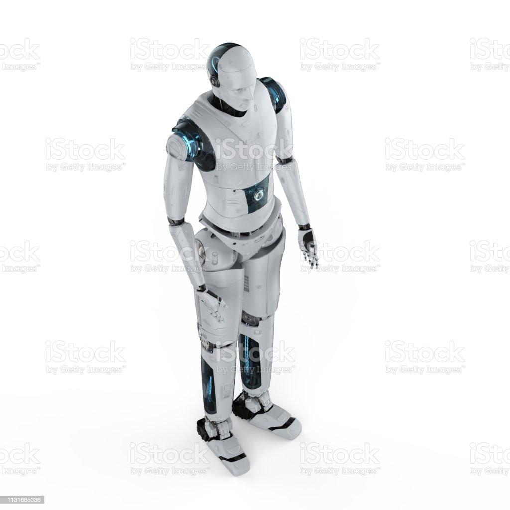 로봇 전신 스톡 사진