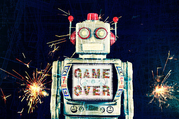 robot game over – Foto
