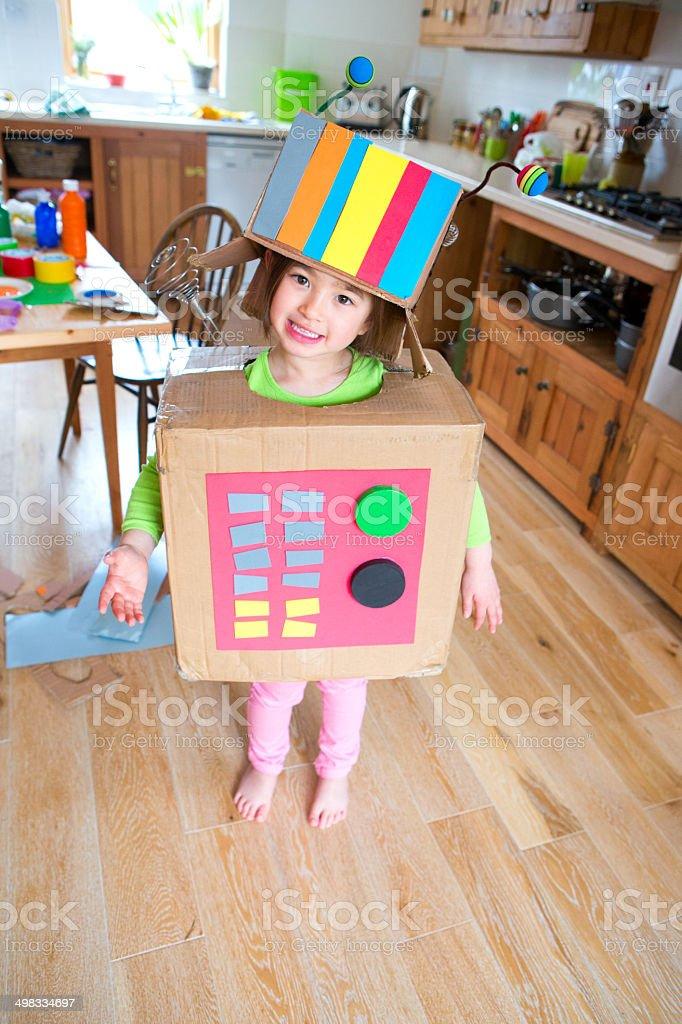 Robot Girl stock photo
