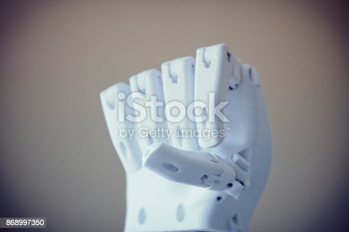 istock Robot hand fingers from plastic 868997350
