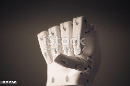 istock Robot hand fingers from plastic 872717668
