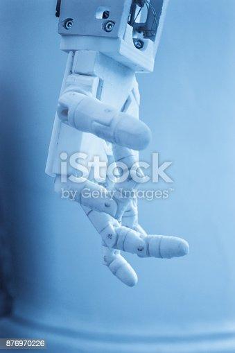 istock Robot hand fingers 876970226