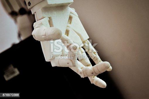 istock Robot hand fingers 876970388