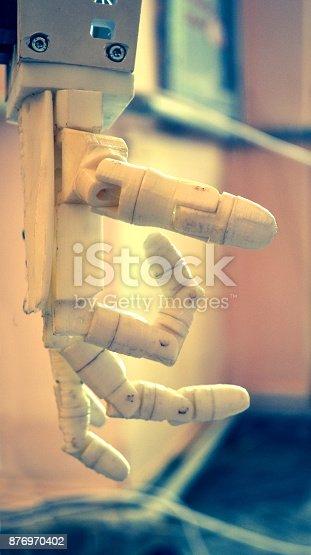 istock Robot hand fingers 876970402