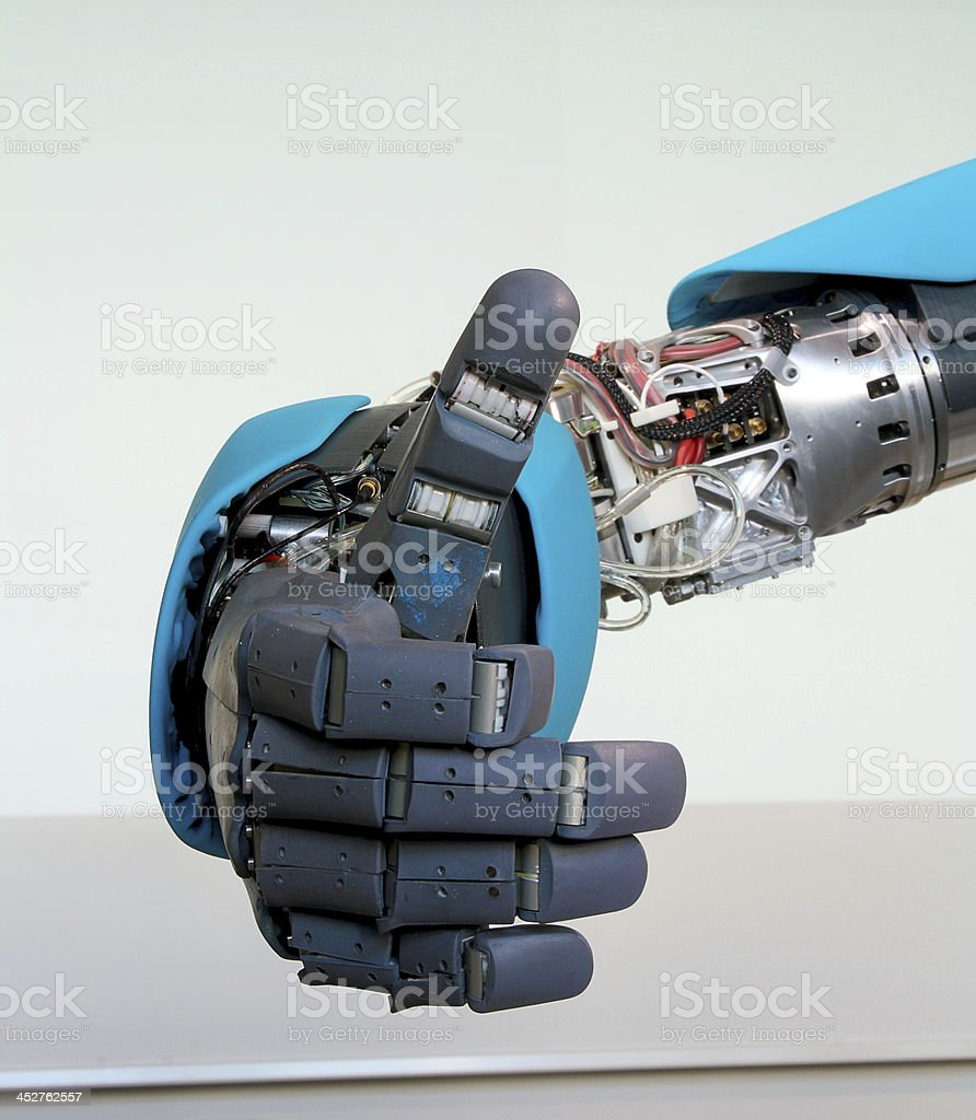 Robot hand gesture meaning okay royalty-free stock photo