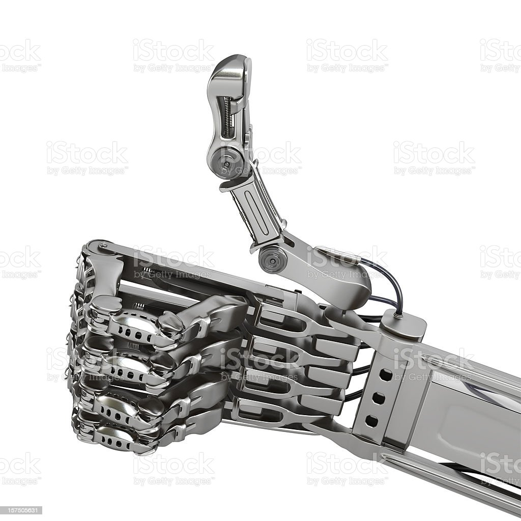 robot hand ok sign royalty-free stock photo