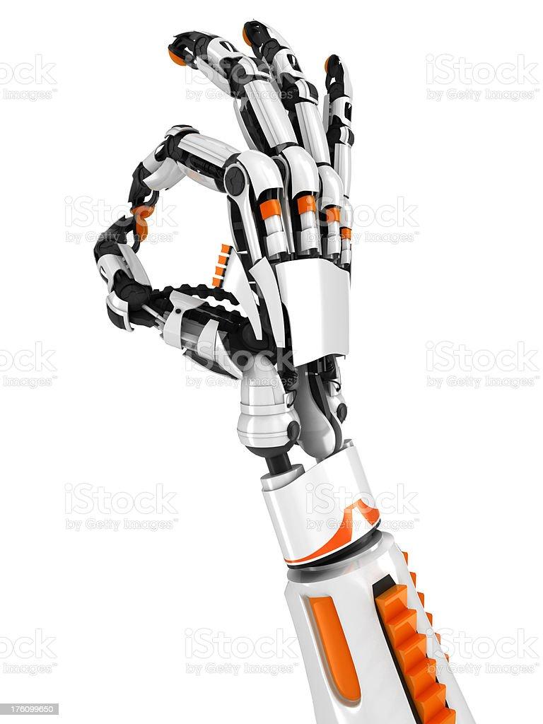 robot hand OK sign royalty-free stock photo