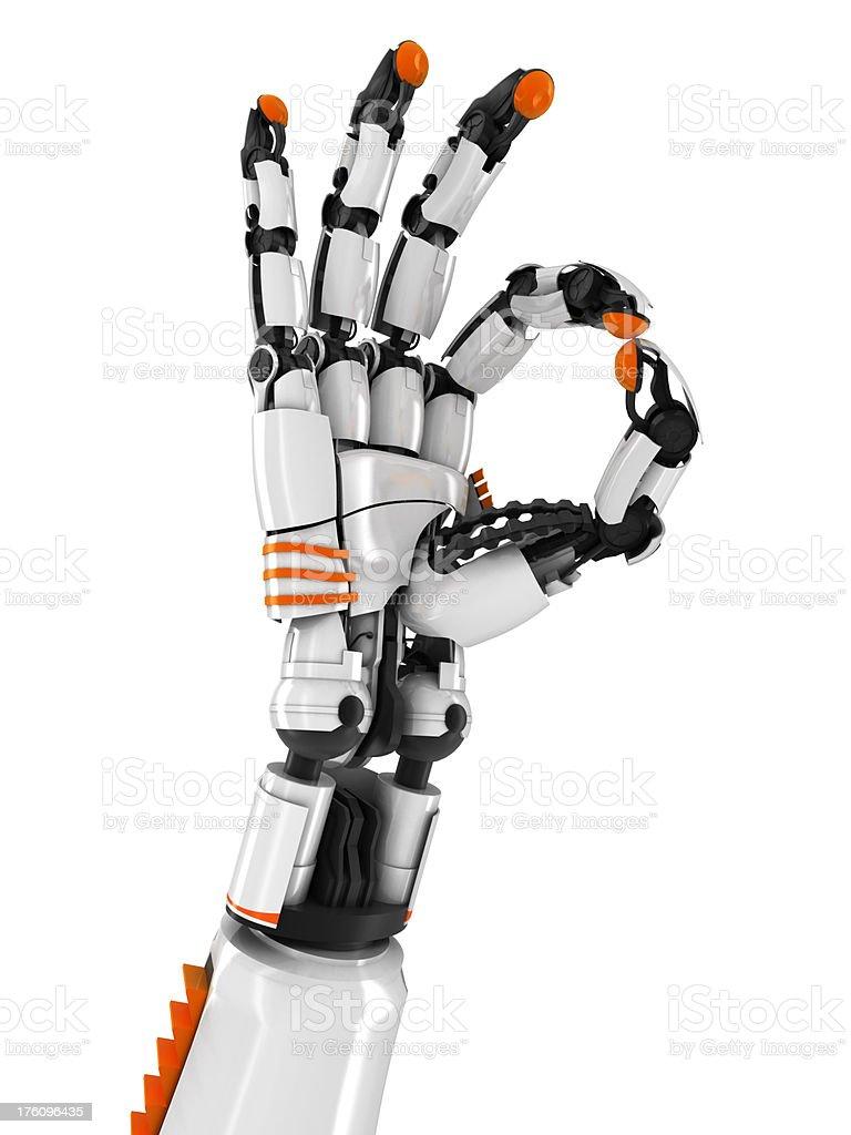 robot hand OK sign v2 royalty-free stock photo