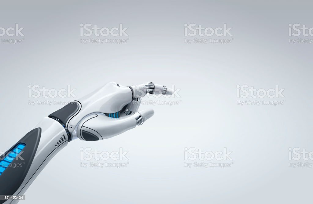 robot hand stock photo
