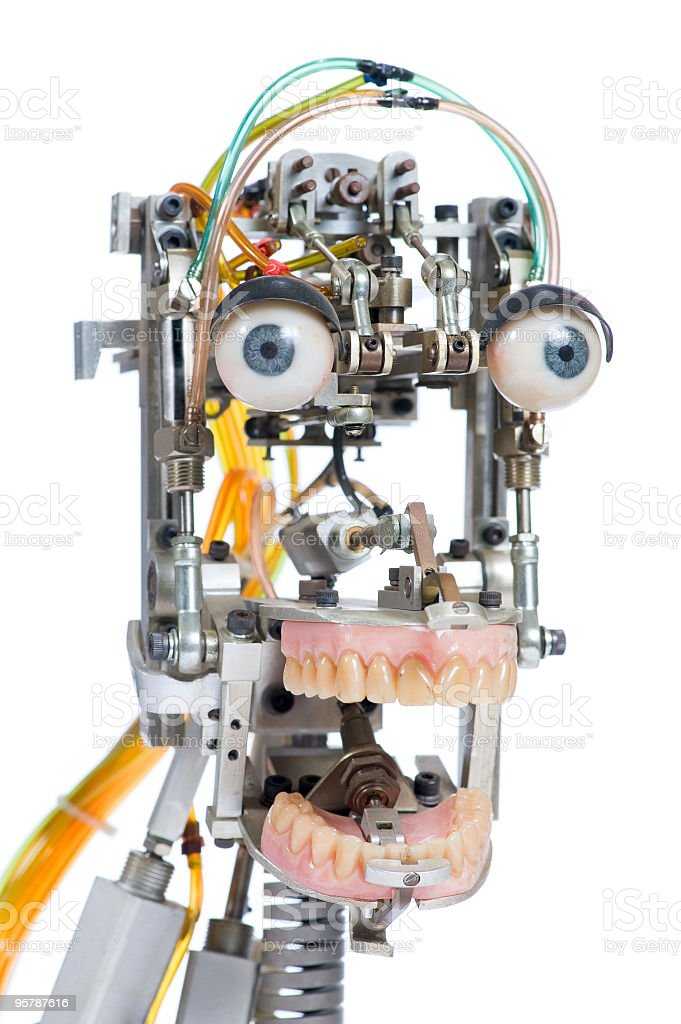 Robot head stock photo