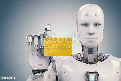 istock robot holding credit card 669506678