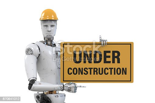 istock robot holding under construction sign 870641012