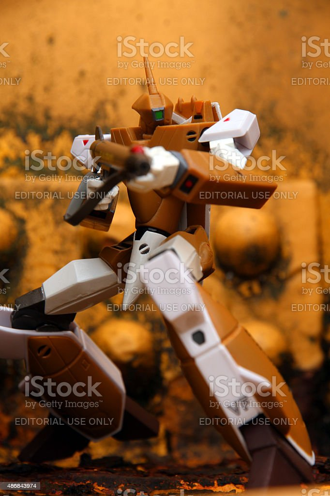 Robot In Action stock photo