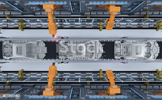 849023956 istock photo robot in car factory 907504160