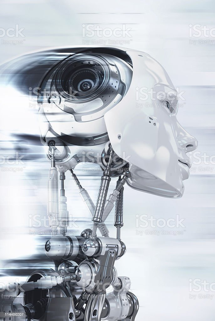 Robot in progress royalty-free stock photo