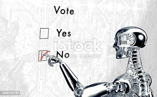 istock robot  is voting with a virtual click 546200150