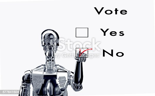 istock robot  is voting with a virtual click 577641504