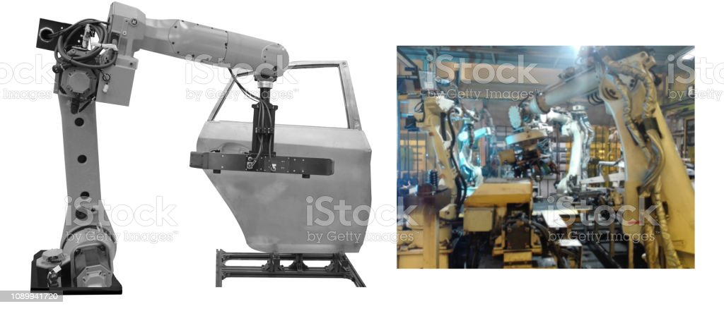 robot is working  automotive stock photo