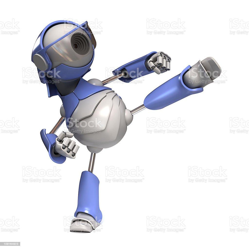 Robot karateka stock photo